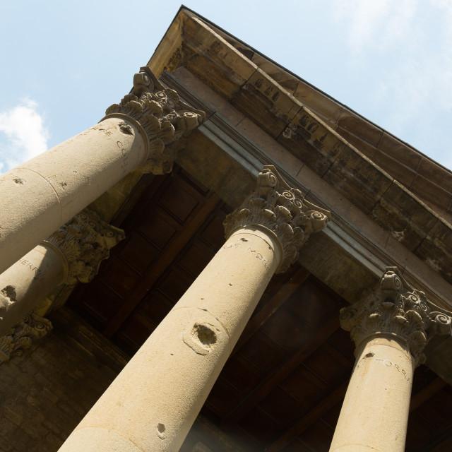 """Roman temple of Vic"" stock image"