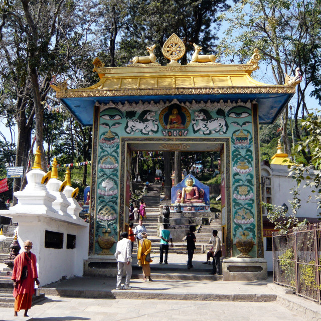 """""""Gateway to Swayambunath"""" stock image"""