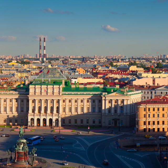 """Panorama of St.Petersburg from Saint Isaac's Cathedral"" stock image"