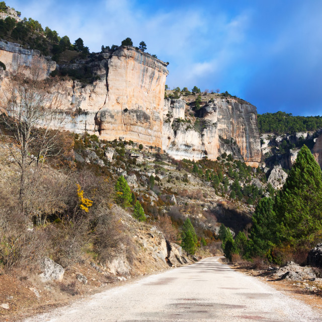"""""""road through rocks in sunny day"""" stock image"""