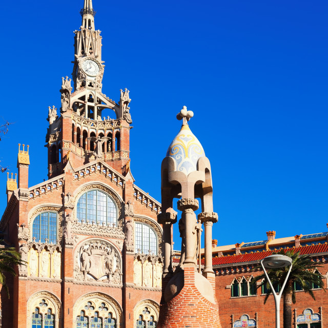 """""""Hospital of the Holy Cross and Saint Paul in Barcelona"""" stock image"""