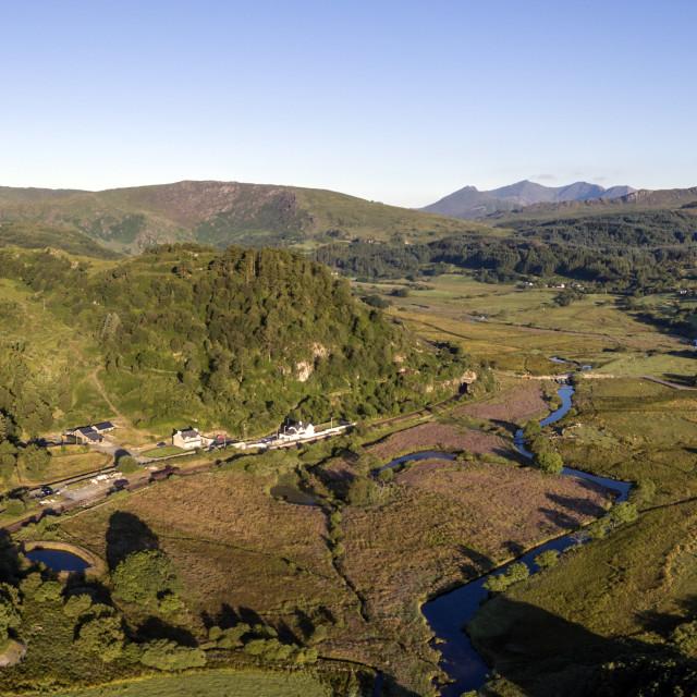 """Snowdonia, Aerial Landscape"" stock image"