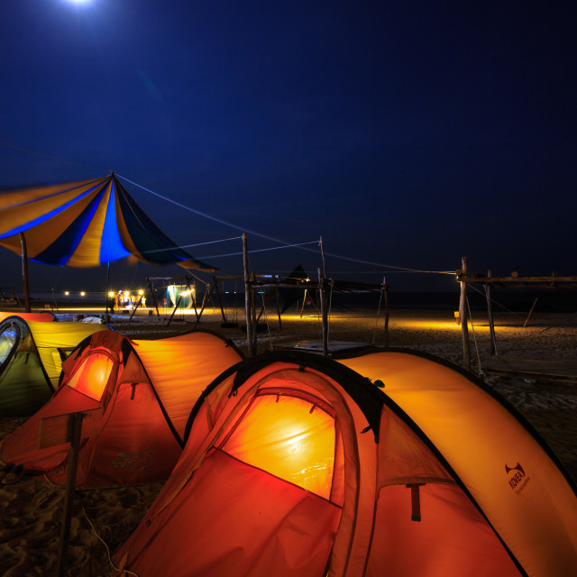 """tents on the beach"" stock image"
