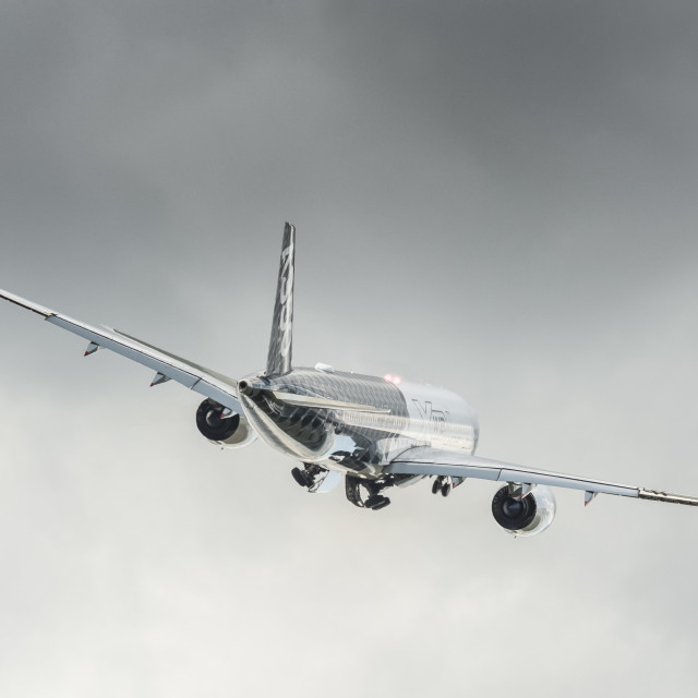 """Airbus A350 XWB take-off"" stock image"