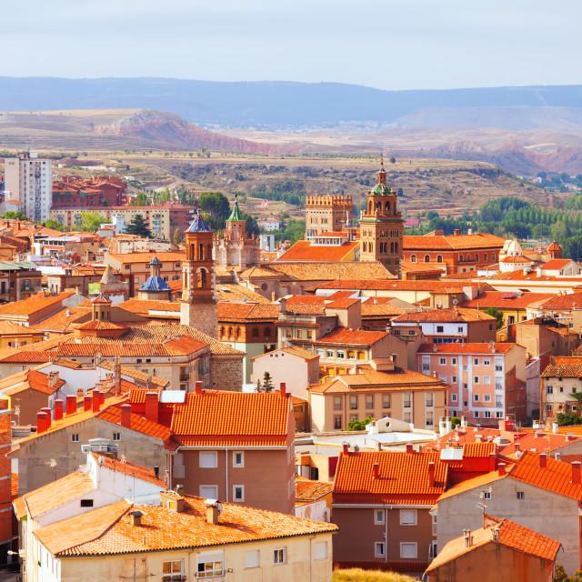 """General view of Teruel in summer"" stock image"