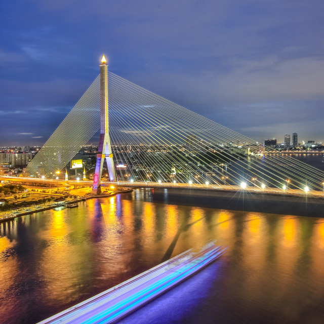 """The Tahm 8 Bridge in Thailand, Bangkok"" stock image"