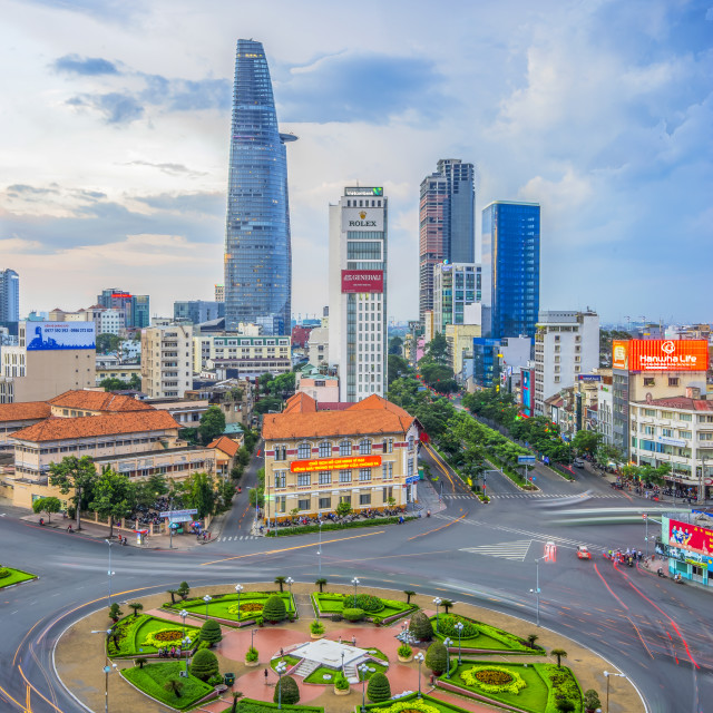 """The center of Ho Chi Minh city in rush hour"" stock image"