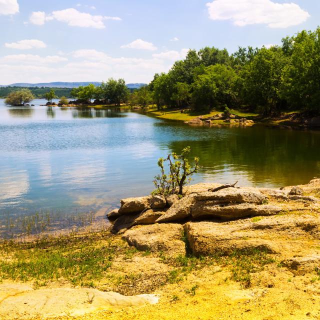 """Landscape with lake"" stock image"