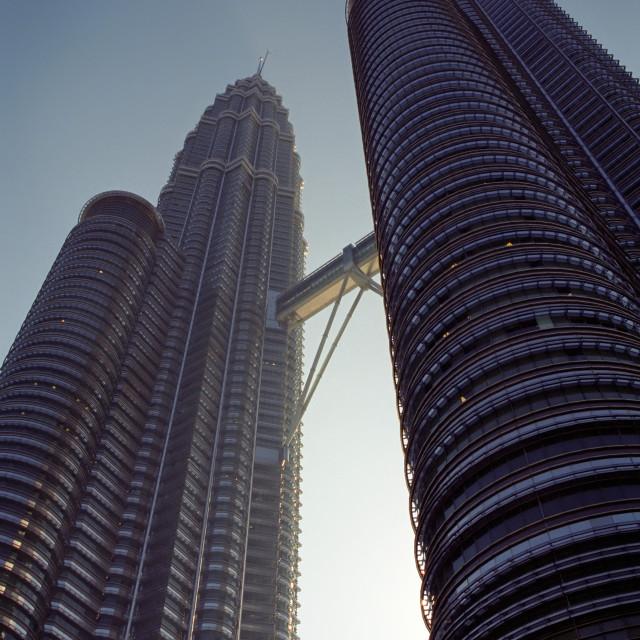 """""""The Petronas Twin Towers in Kuala Lumpur, Malaysia"""" stock image"""