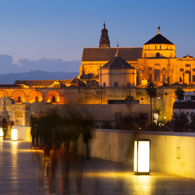 """Mosque-cathedral of Cordoba in evening"" stock image"