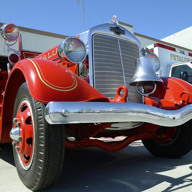 """American LaFrance fire truck"" stock image"