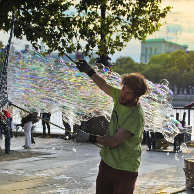 """Making bubbles"" stock image"