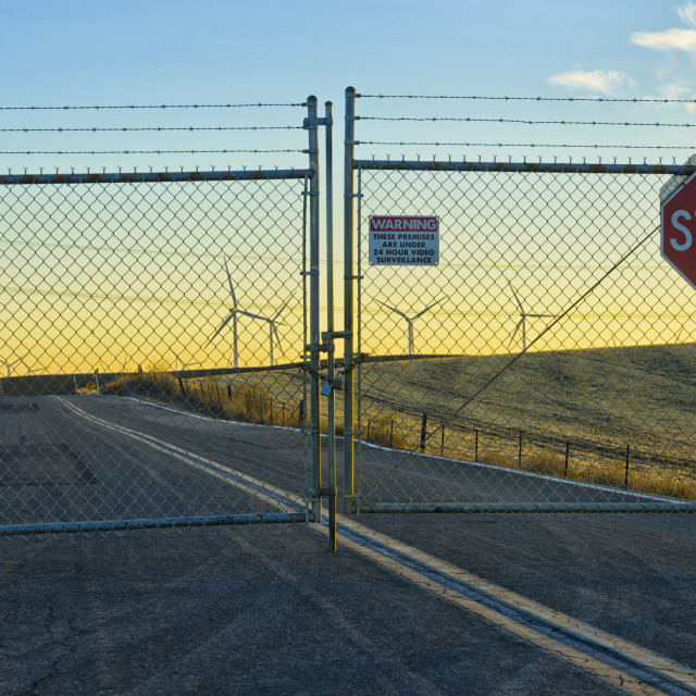 """""""Road access closed"""" stock image"""