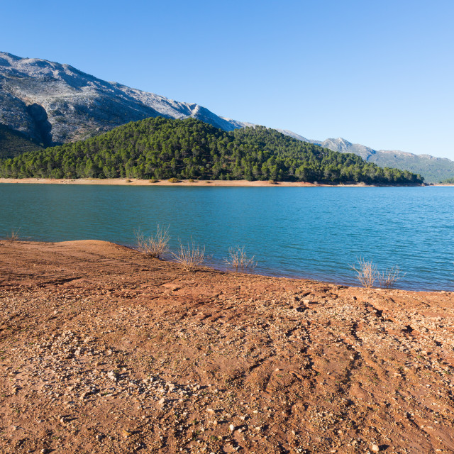 """River in mountains. Guadalquivir"" stock image"