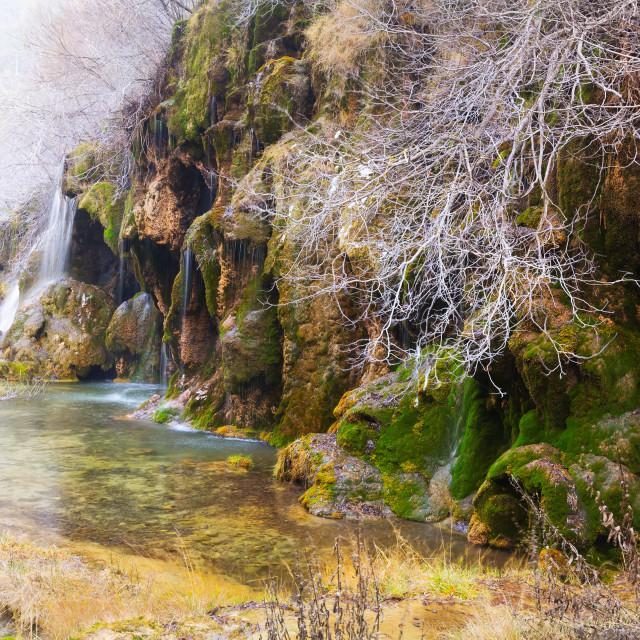 """""""Natural waterfall at river"""" stock image"""