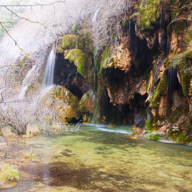 """""""Source of the river Cuervo in winter"""" stock image"""