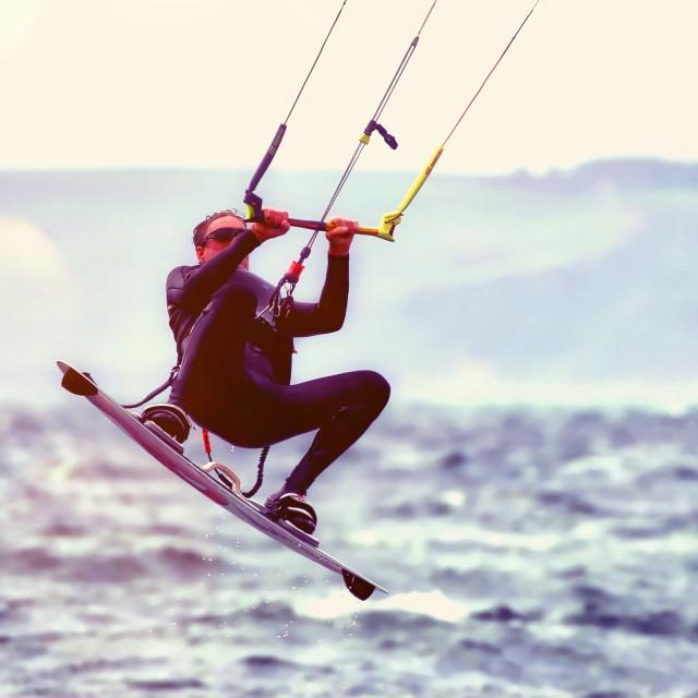 """""""Kite Boarder"""" stock image"""