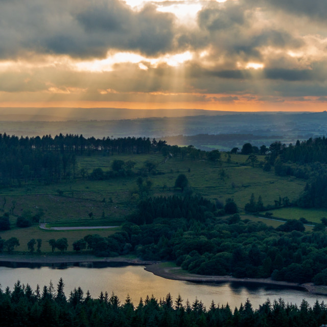 """Burrator Sunset"" stock image"