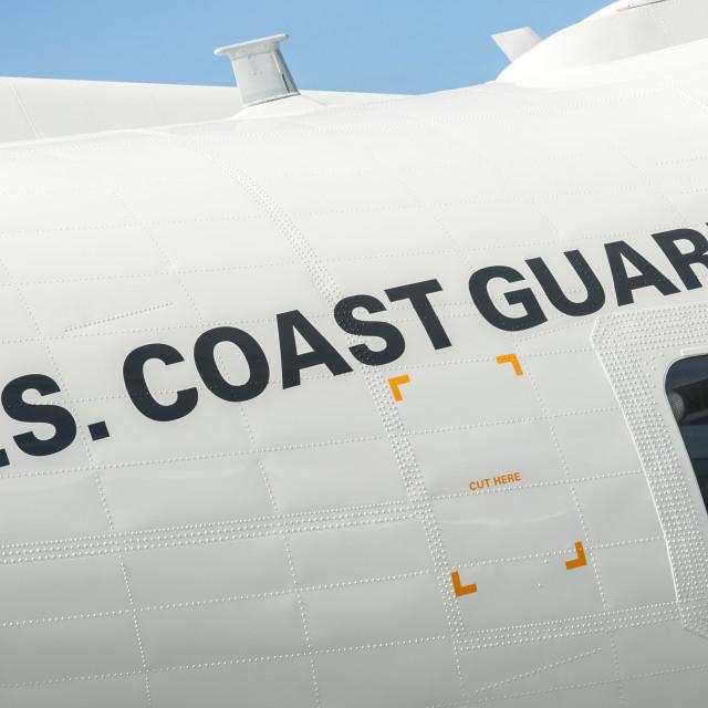 """US Coast Guard aircraft"" stock image"