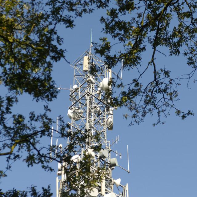 """Mobile Telephone Mast"" stock image"
