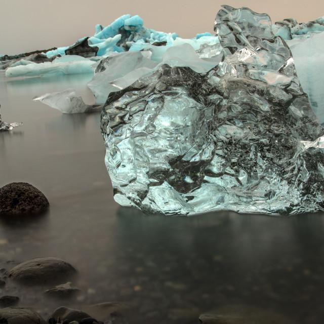 """Iceberg at Jokulsárlon glacial lagoon, Iceland"" stock image"