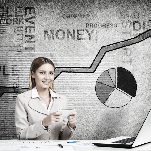 """""""Electronic business concept"""" stock image"""