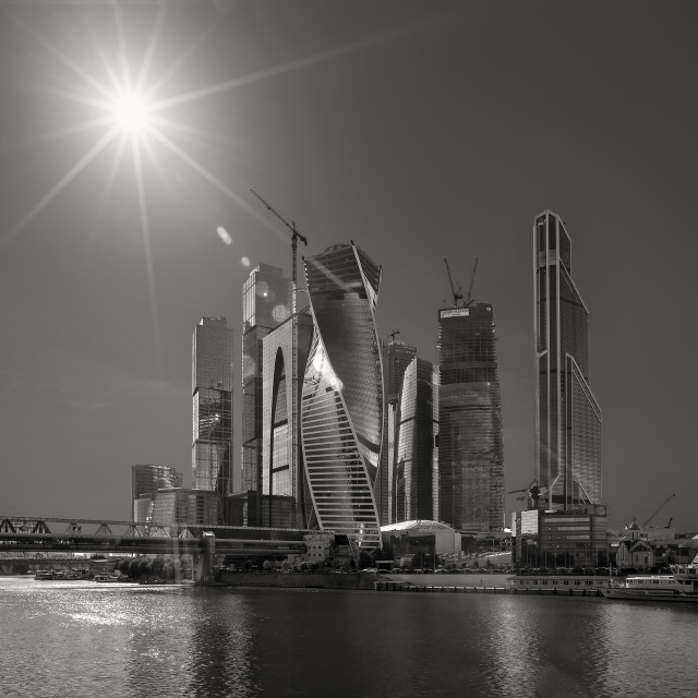"""""""Moscow city"""" stock image"""