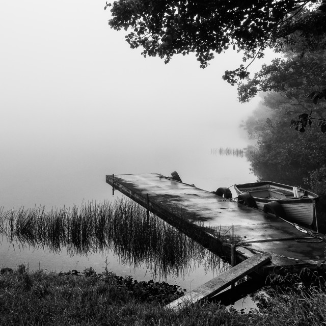 """""""Bell Lake Co.Waterford"""" stock image"""