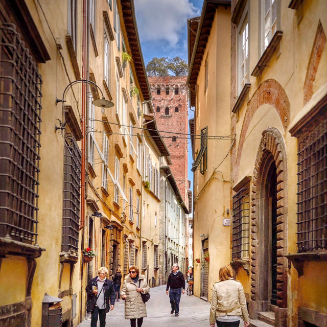 """Walking in lucca"" stock image"