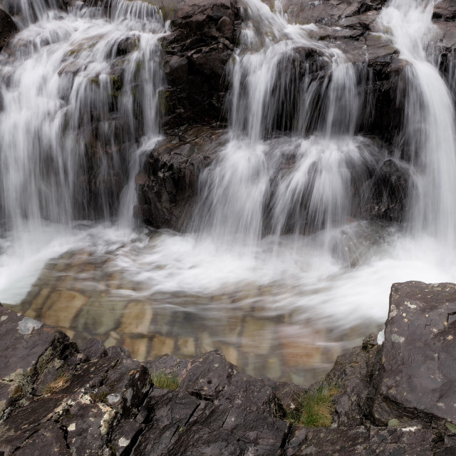 """Glencoe waterfall"" stock image"