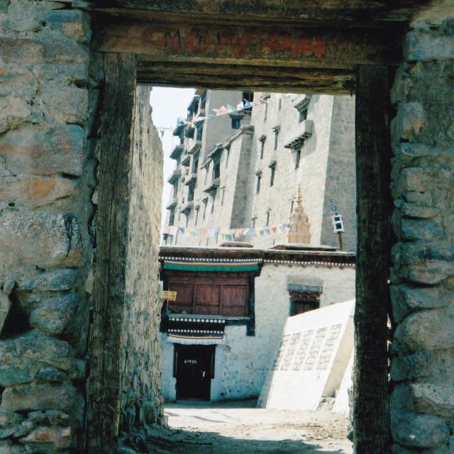 """Doorway in Monastery, Leh, India"" stock image"