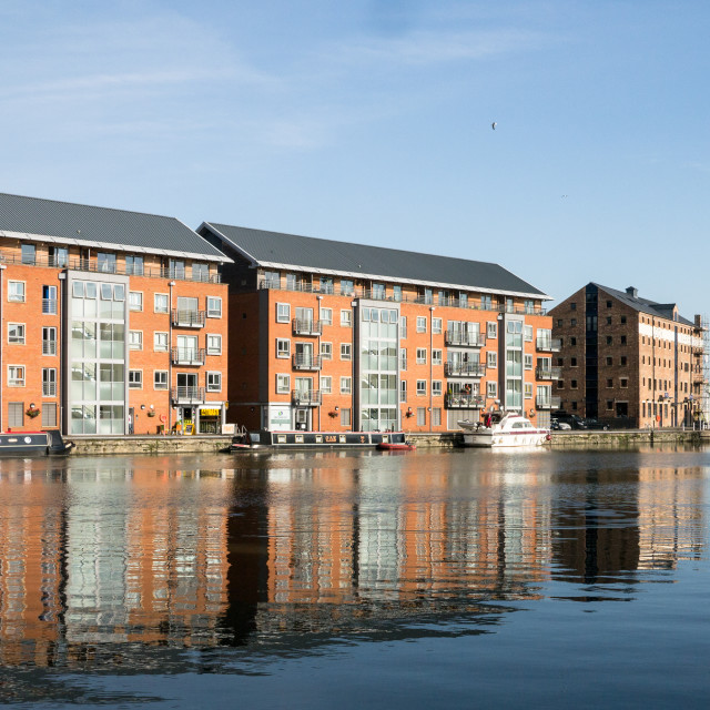 """Gloucester Dockside Apartments"" stock image"