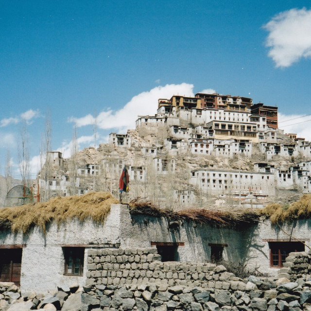 """Thiksey village and Gompa, Ladakh"" stock image"