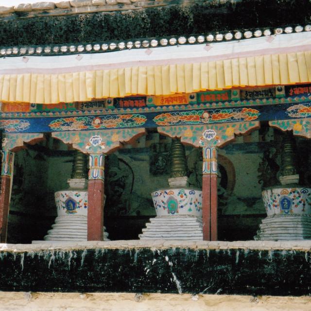 """Chortens at Monastery, Ladakh, India"" stock image"