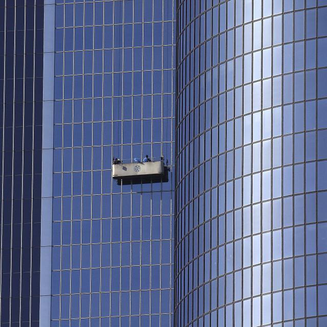 """LOS ANGELES WINDOW WASHERS"" stock image"