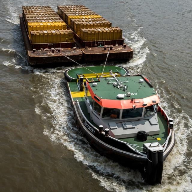 """Thames Tugboat"" stock image"