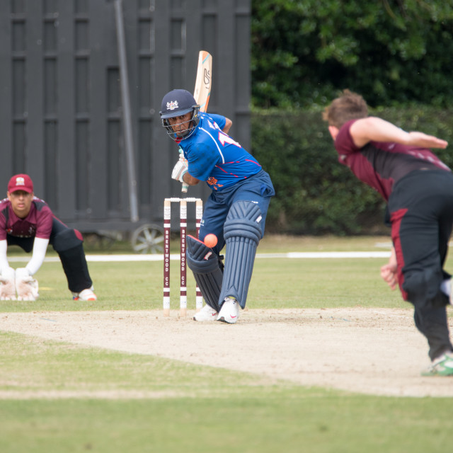 """""""Brentwood Cricket Club vs PCA England Masters"""" stock image"""