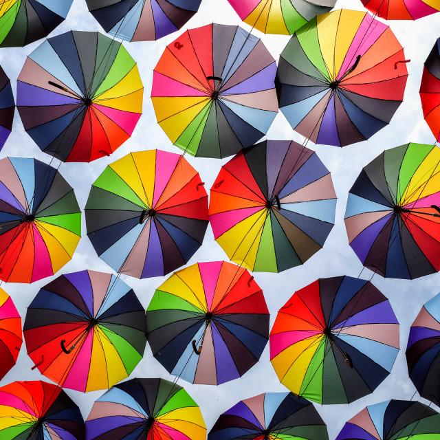 """Bright colorful rainbow"" stock image"