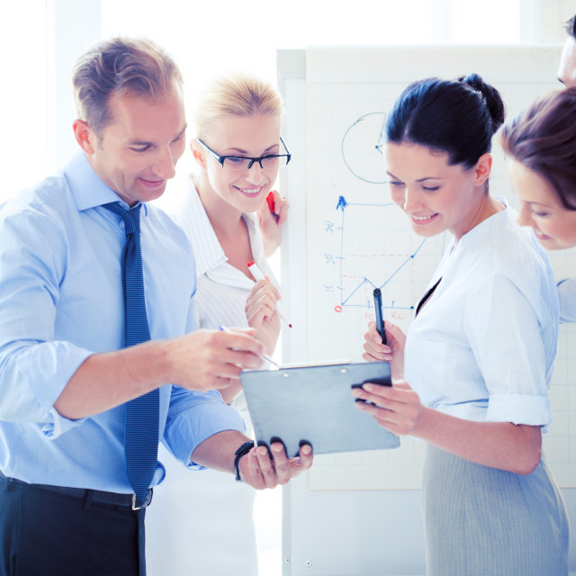 """""""business team having discussion in office"""" stock image"""