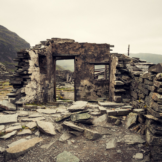 """""""Coniston Ruin"""" stock image"""