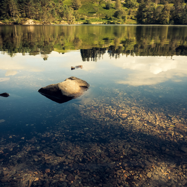 """Tarn Hows Reflections"" stock image"