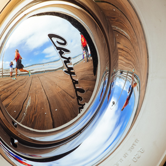 """Chrysler Hub Cap"" stock image"