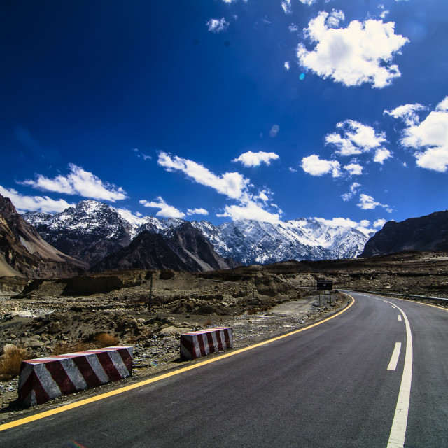 """View of Karakorum highway"" stock image"