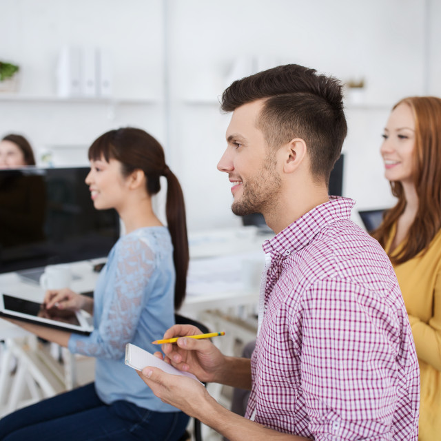 """""""creative team on conference or seminar at office"""" stock image"""