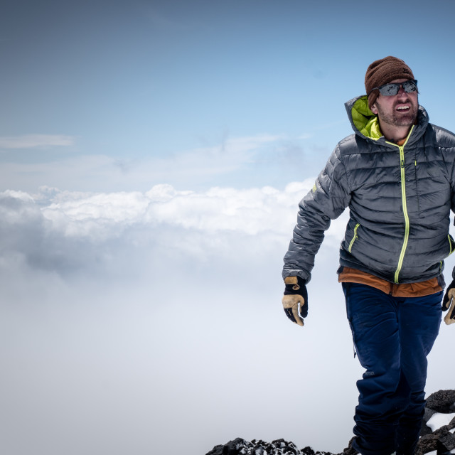 """""""walk above the clouds"""" stock image"""