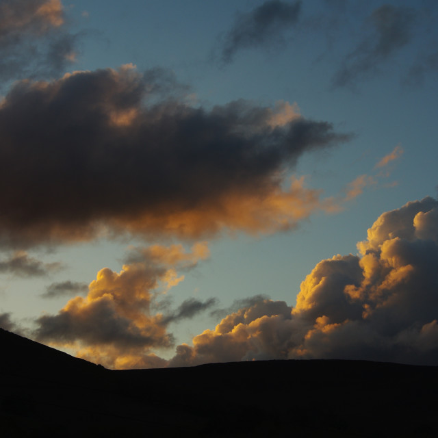 """""""Clouds at dusk"""" stock image"""