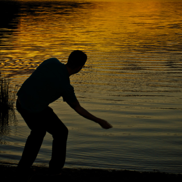 """Skimming Stones"" stock image"