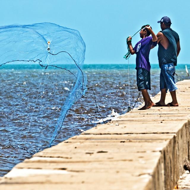 """Net fishing"" stock image"