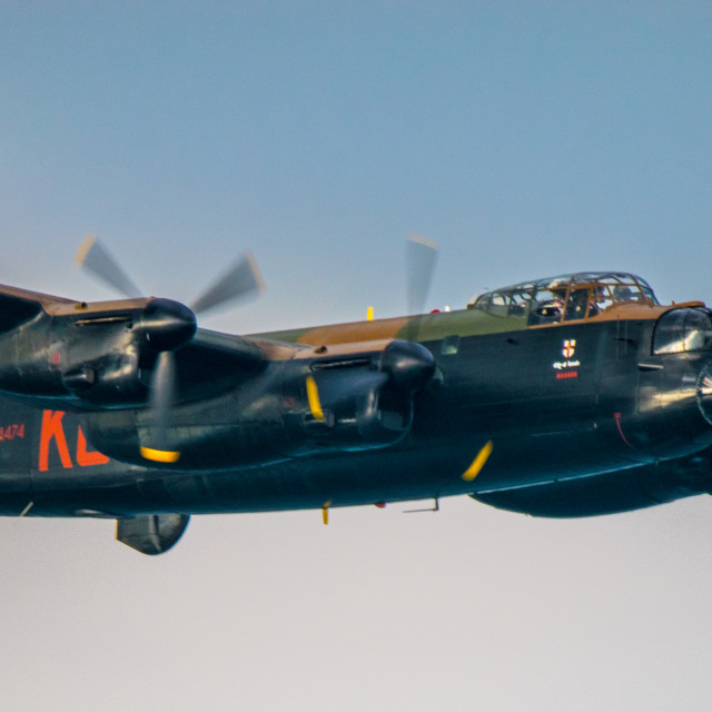 """Lancaster Bomber, Battle of Britan Memorial Flight"" stock image"