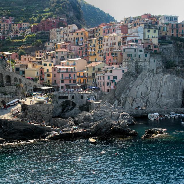 """""""Cinque Terre Village"""" stock image"""